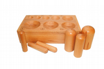 Wooden Set of 6 Dome Punches and Doming Dapping Block with 8 Hemispheres. J2098